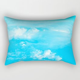 Aerial Turquoise Clouds Rectangular Pillow