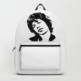 """BEAUTIFUL GIFTS OF Sir Michael Philip """"Mick"""" JaggerBlack White Face, Music, Art Backpack"""