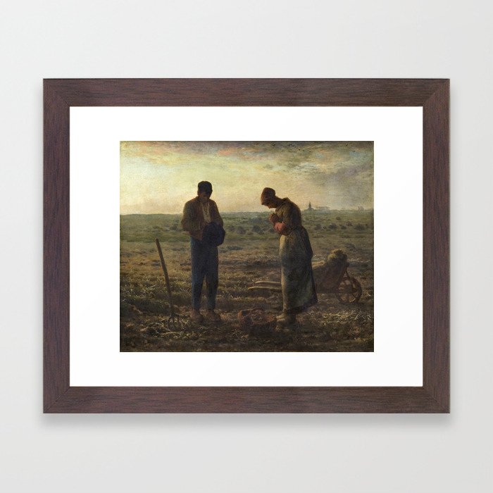 The Angelus by Jean Francois Millet Framed Art Print