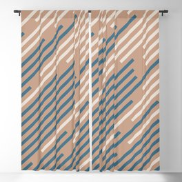 Sandstorm Beige Dark Blue Creamy Off White Lines 2021 Color of The Year Canyon Dusk Accent Shades Blackout Curtain