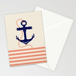 AFE Navy Anchor and Chain Stationery Cards