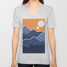 The mountains under the two suns Unisex V-Neck