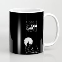 tokyo ghoul Mugs featuring I am a Ghoul  by Touko Rabbit