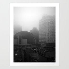 the fog Art Print