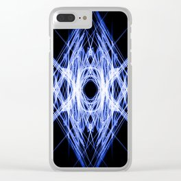 Blue Ice Shield Clear iPhone Case