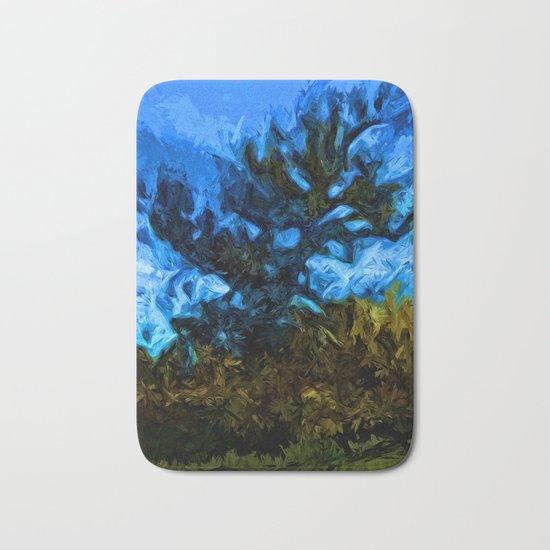 Tree Breaks the Blue Sky Bath Mat