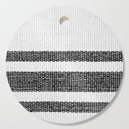 Woven Stripes Black and White Cutting Board