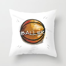 Baller Throw Pillow