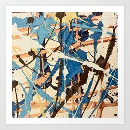 Miniature Original - blue brown Art Print