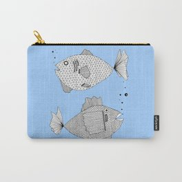 Two Fish Blue Fish Carry-All Pouch