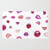 lip Area & Throw Rugs featuring Lip Service by Gemma Roe