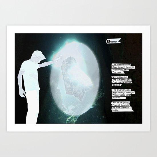 The Dreamer Poet Art Print