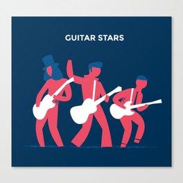 Guitar Stars Canvas Print