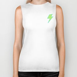 Bolt- Lime Green Biker Tank