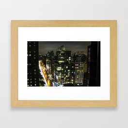 New York Street Framed Art Print