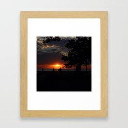 Two At Dawn Framed Art Print
