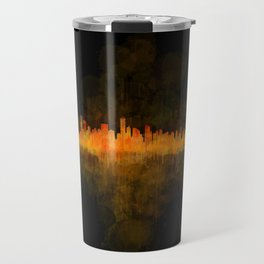 Vancouver Canada City Skyline Hq v04 dark Travel Mug
