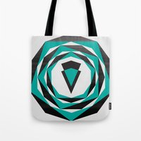 arya Tote Bags featuring Decahedron Hexagon combined! by Hinal Arya