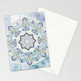 BLUE YERA MANDALA Stationery Cards