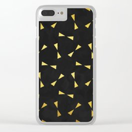 black & gold minimal pattern Clear iPhone Case