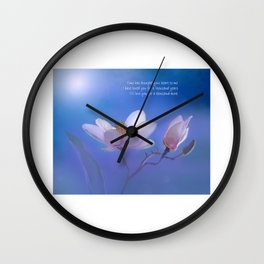 A Thousand Years   Christina Perri Inspired Lyric Art Print Wall Clock