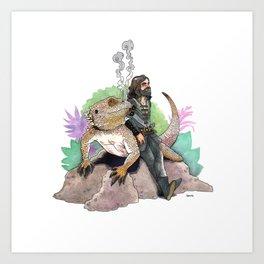 King Richard & Tad Cooper Art Print