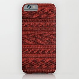 Cardinal Red Cable Knit iPhone Case