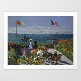 Garden at Sainte-Adresse Art Print