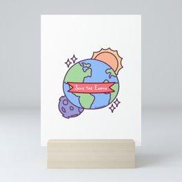 Save The Earth Environmental Protection Sun Moon Gift Mini Art Print