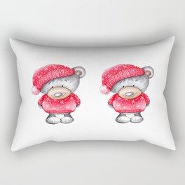 Christmas Teddy Bear Rectangular Pillow