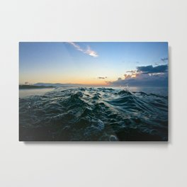 Sunrise Water Pointer Metal Print