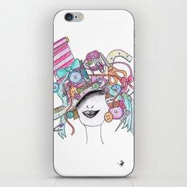 365 cabelos - sewing iPhone Skin