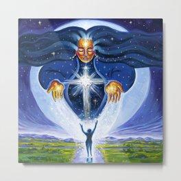 Pleiadian Star Goddess Metal Print
