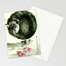 cunning cat Stationery Cards