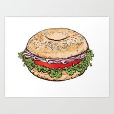 Bagel Sandwich Art Print