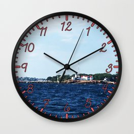 Lighthouse in Gloucester Wall Clock