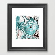 Marble Glitch 3 Framed Art Print