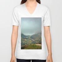 europe V-neck T-shirts featuring Peaks of Europe by Svetlana Korneliuk