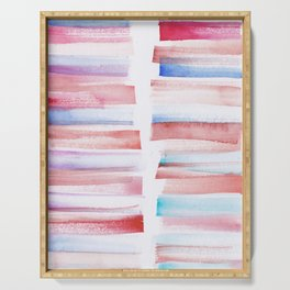 13 | 181101 Watercolour Palette Abstract Art | Lines | Stripes | Serving Tray