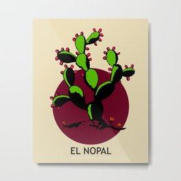 El Nopal Mexican Loteria Card Metal Print