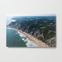 Beautiful Cliffs and Bluffs of Block Island, Rhode Island Metal Print
