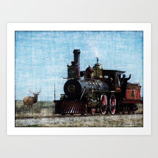 Iron Horse Invades the Plains Art Print