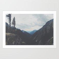 Hidden Mountain Range Art Print