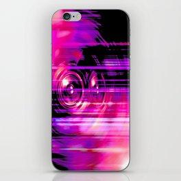 Purple music speakers iPhone Skin
