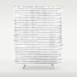 Lines on lines on stripes on lines Shower Curtain