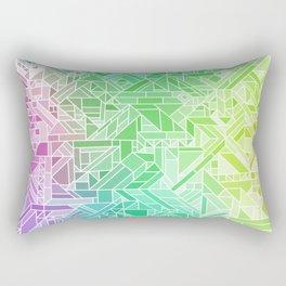 Bright Gradient (Violet Purple Lime Green Neon Yellow) Geometric Pattern Print Rectangular Pillow