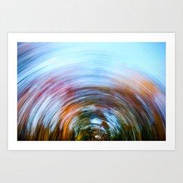 Fall Swirl Art Print
