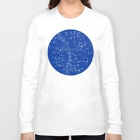 superheroes Long Sleeve T-shirts featuring Superheroes Constellations by tuditees