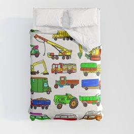 Doodle Trucks Vans and Vehicles Comforters