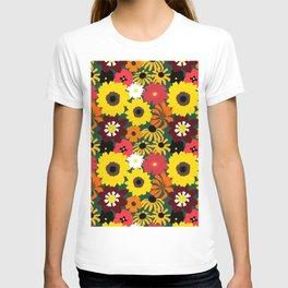Retro Fall Flowers T-shirt